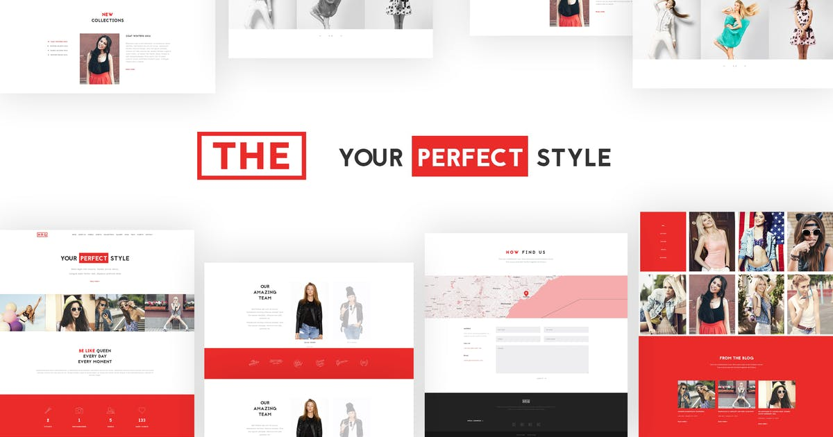 Download The Fashion Model Agency One Page Beauty WP Theme by themeton