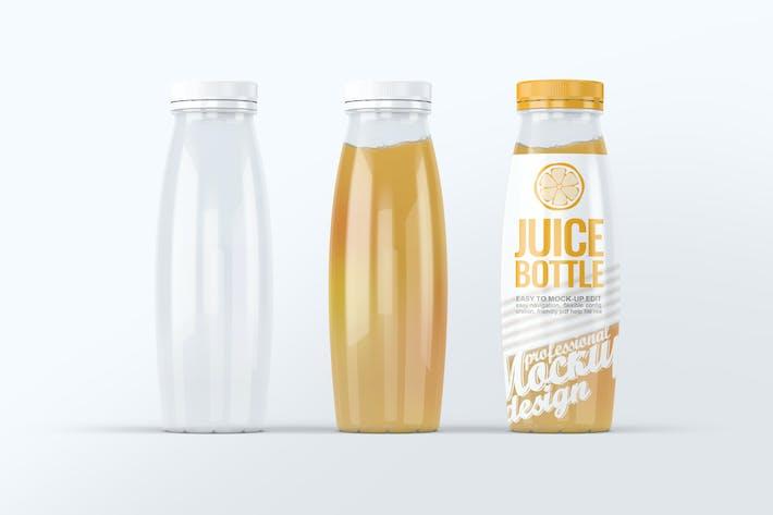 Thumbnail for Plastic Juice Bottle Mock-Up