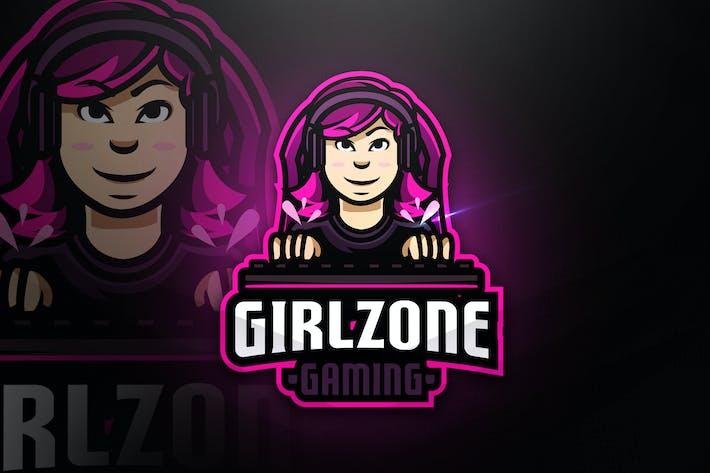 Thumbnail for Girlzone Gaming - Mascot & Esport Logo