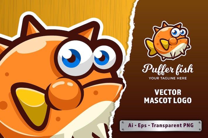 Puffer Fish E-sports Game Logo Template