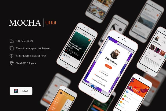 Thumbnail for Mocha Mobile UI Kit for FIGMA