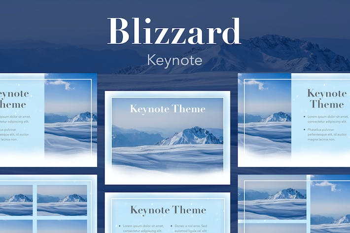 Thumbnail for Blizzard Keynote Template