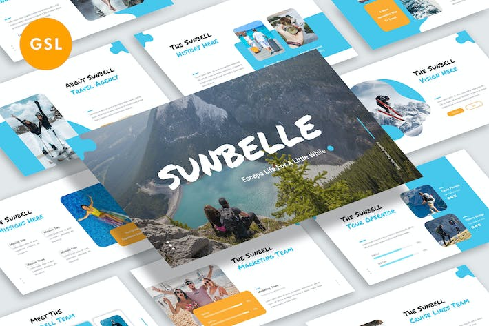 Thumbnail for Sunbelle Google Slide Template