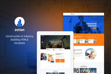 Ostion - Construction & Industry Building Template