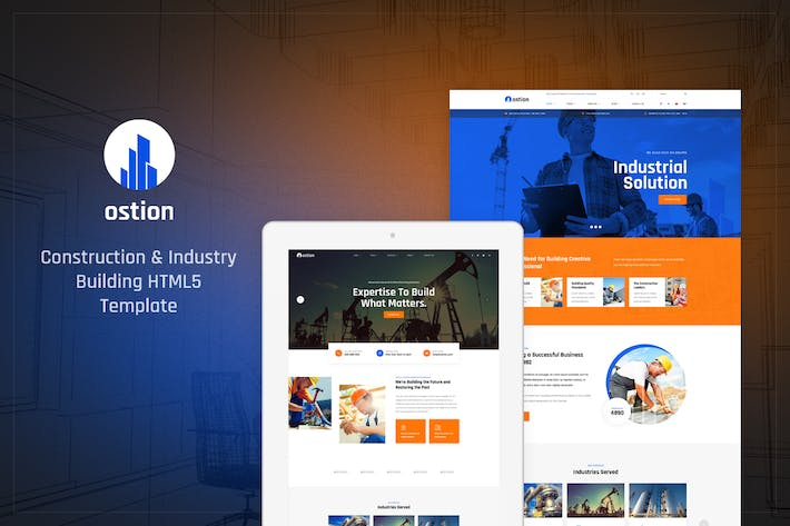 Thumbnail for Ostion - Construction & Industry Building Template