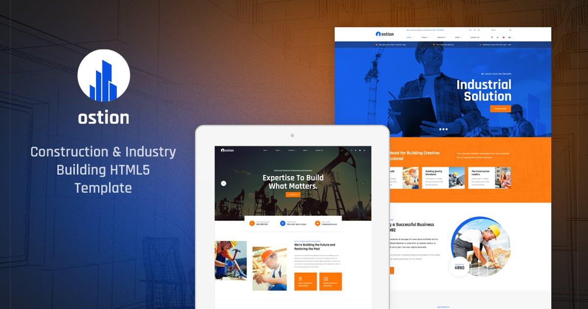 Download Ostion - Construction & Industry Building Template by Layerdrops