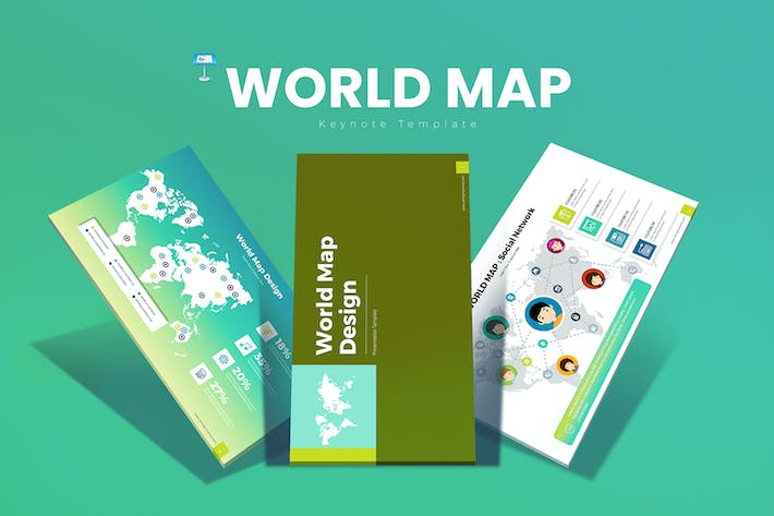 Thumbnail for World Map Keynote Templates