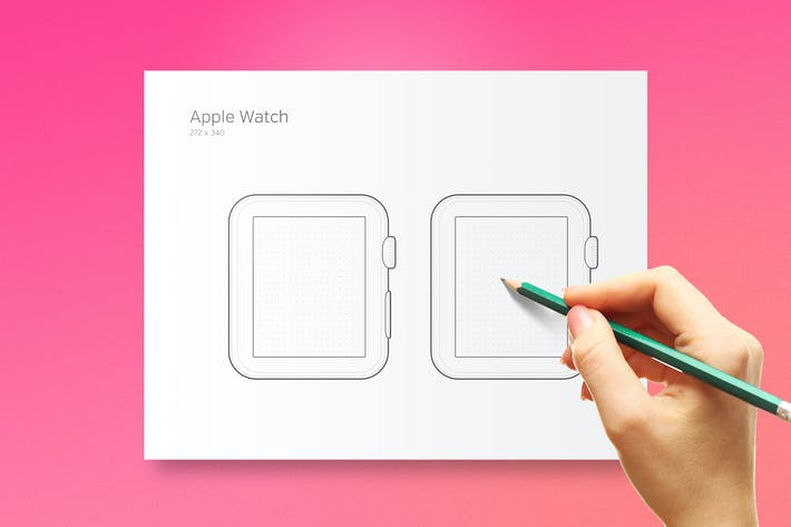 Thumbnail for Printable Apple Watch Prototyping Sheet