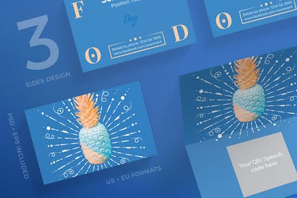 Food Day Business Card Template