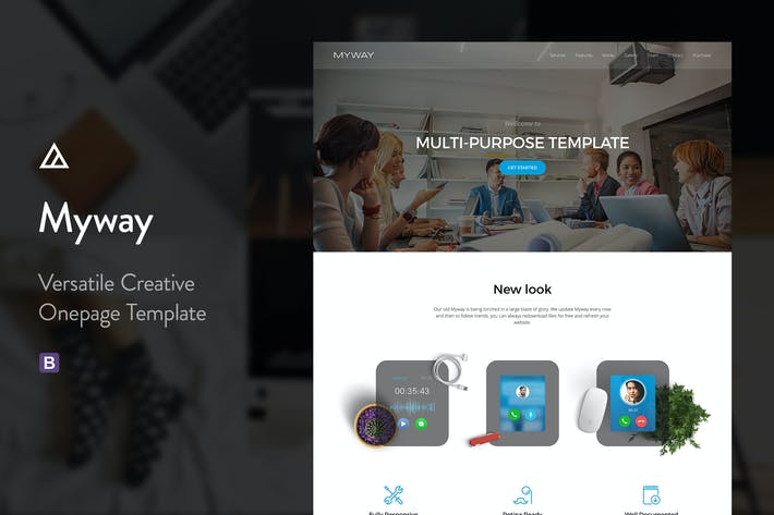 Thumbnail for Myway - Multi-Purpose Onepage Parallax Template