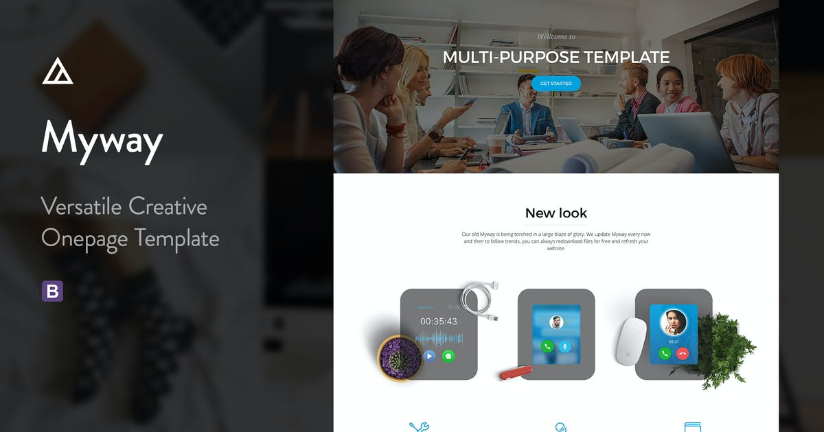 Download Myway - Multi-Purpose Onepage Parallax Template by awerest