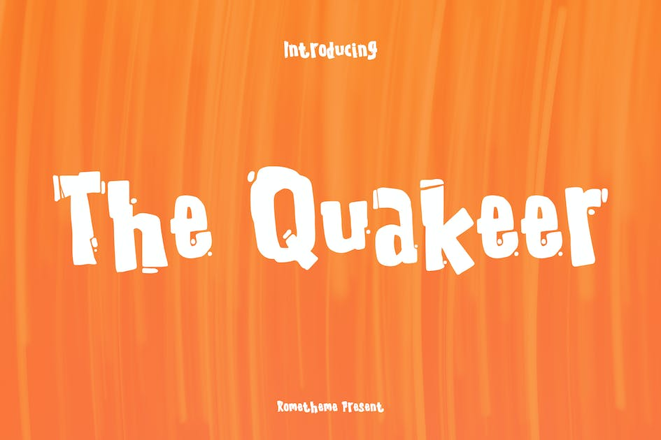 Download The Quakeer - Display Font by Rometheme