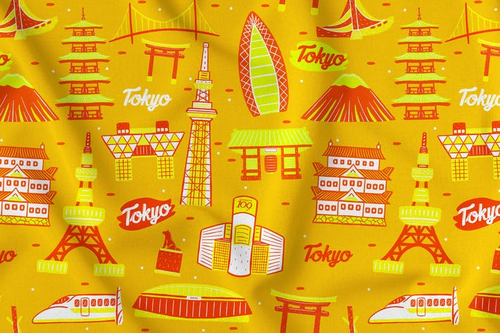 Thumbnail for Tokyo Seamless Pattern