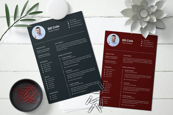 Thumbnail for Business CV Template