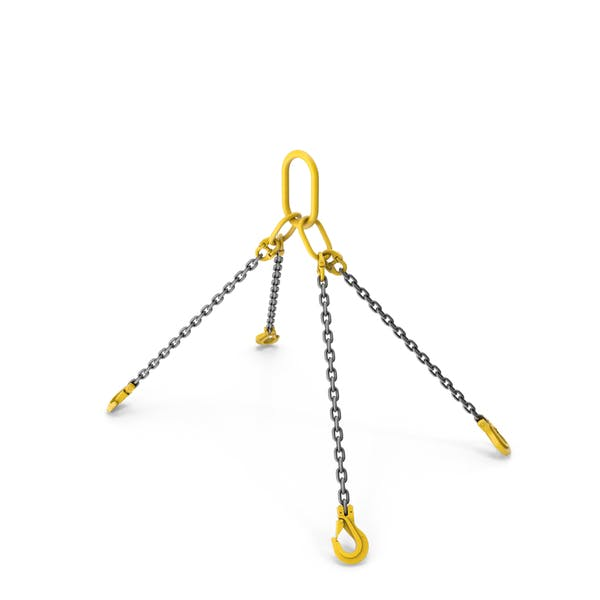 Thumbnail for Crane Sling with Four Hooks