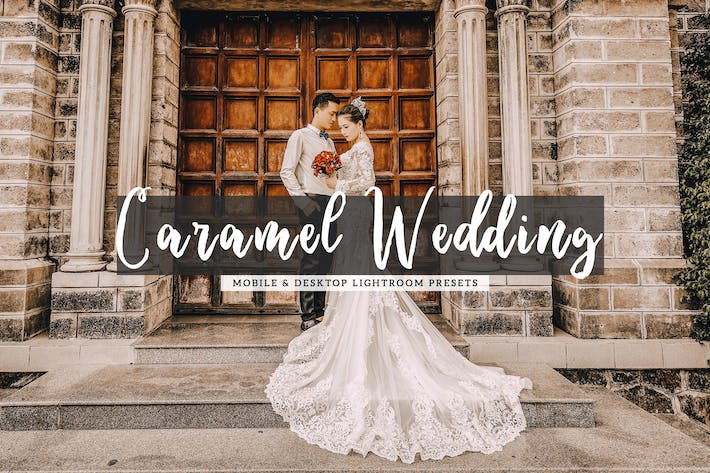 Thumbnail for Caramel Wedding Mobile & Desktop Lightroom Presets