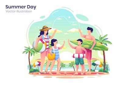 Summer Day Illustration - Agnytemp