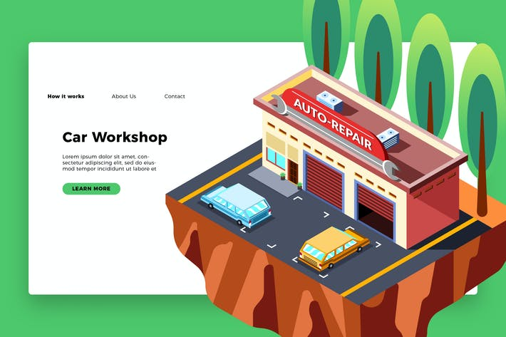 Thumbnail for Car Workshop - Banner & Landing Page