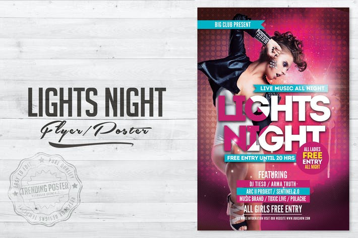 Thumbnail for Lights Night Flyer Poster
