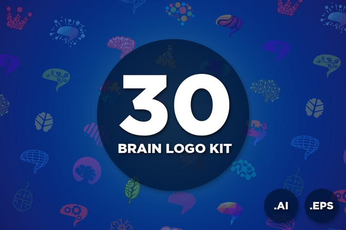 Cover Image For 30 Brain Logo Kit