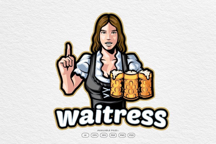 Retro Waitress Logo