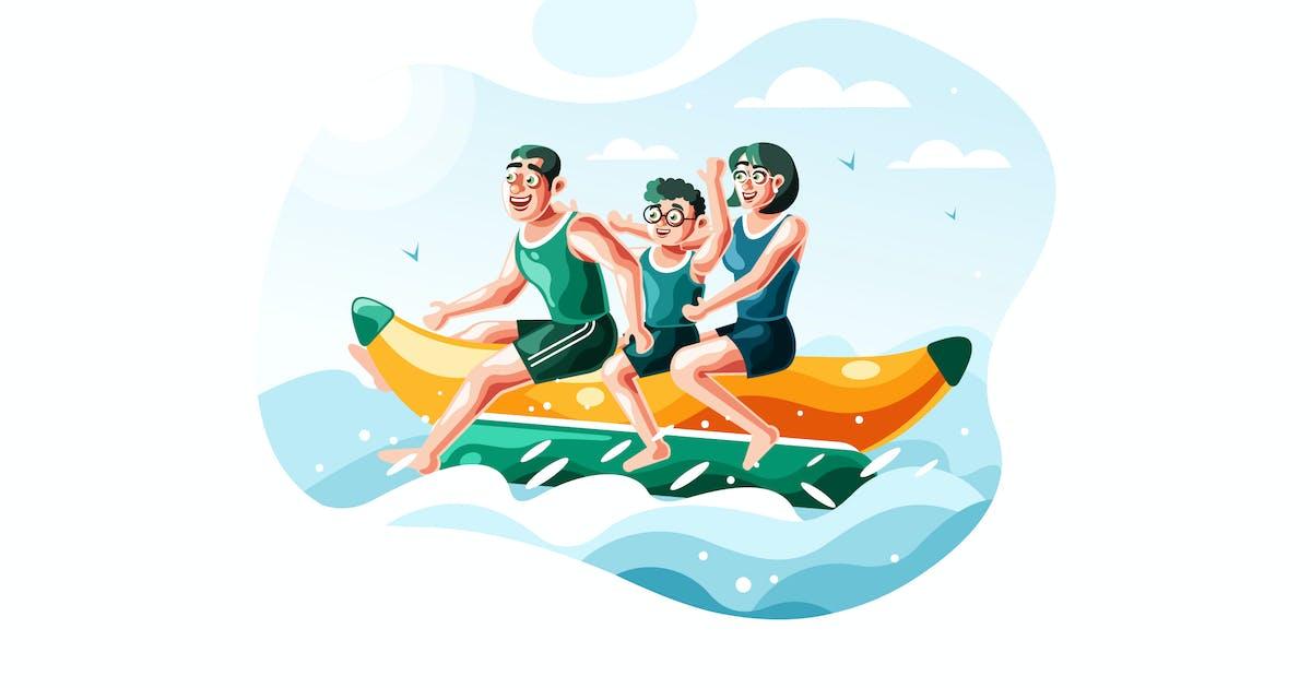Download Family riding banana boat by IanMikraz