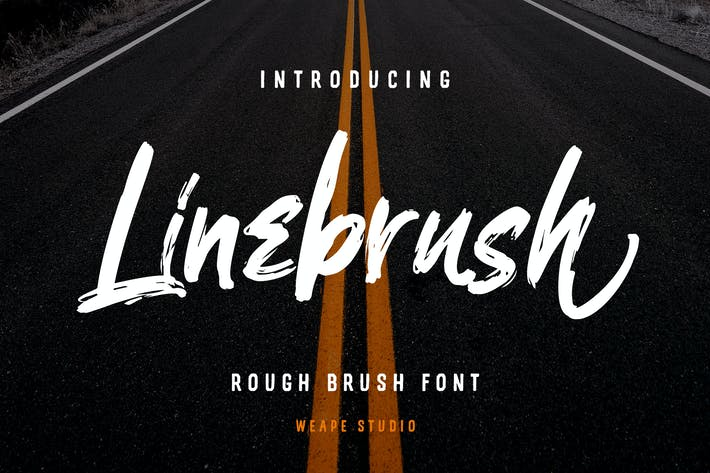 Thumbnail for Linebrush - Rough Brush Font