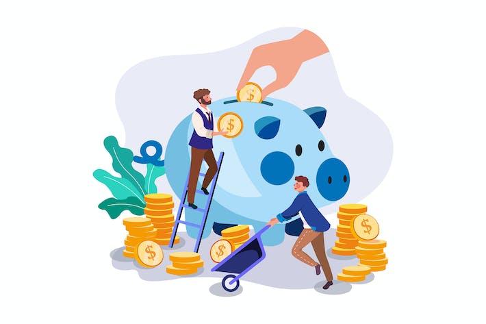 Thumbnail for Businessman saving his profit