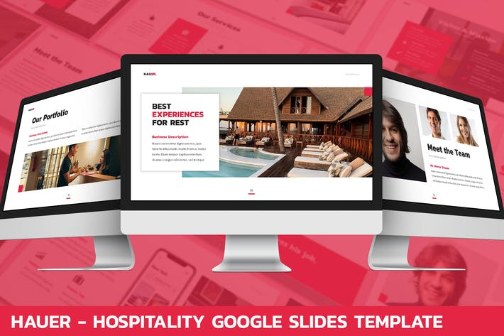 Thumbnail for Hauer - Hospitality Google Slides Template