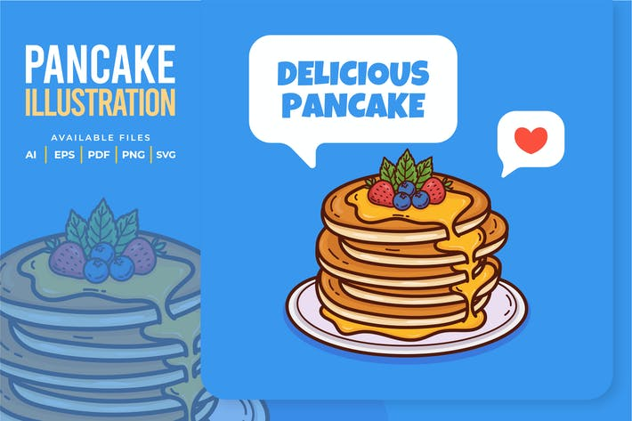 Delicious Pancake Illustration