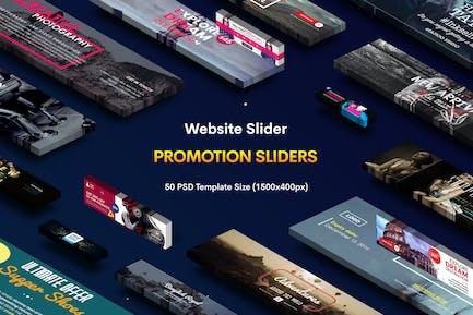Promotion Website Sliders - 50 PSD