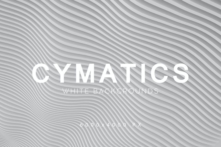 Cymatics White Backgrounds