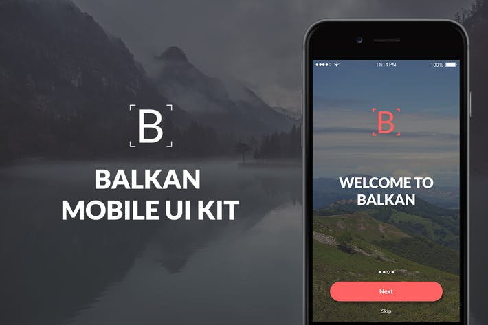 Cover Image For Balkan Mobile UI Kit