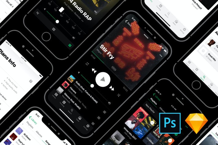 Thumbnail for Heavy UI Kit: Music