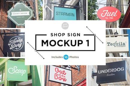 Shop sign mockups 1
