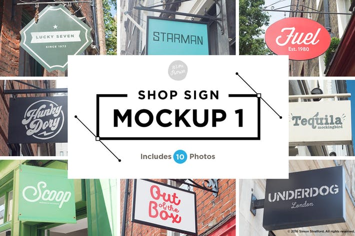 Thumbnail for Shop sign mockups 1
