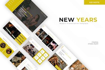 New Years Season - Keynote Template
