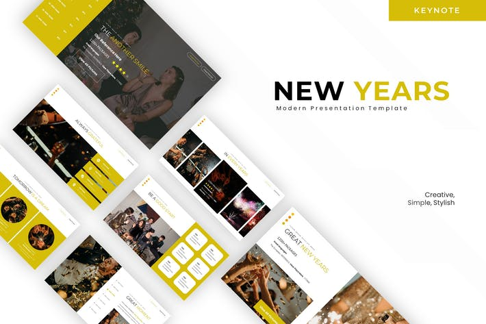 Thumbnail for New Years Season - Keynote Template