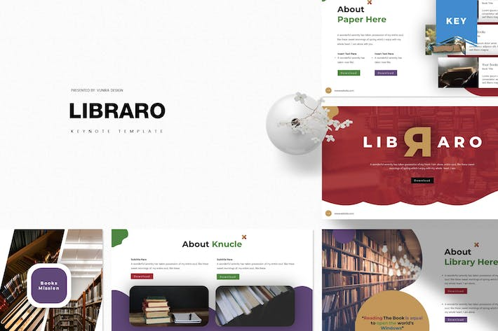 Thumbnail for Libraro | Keynote Template