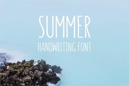 Verano - Fuente de escritura a mano