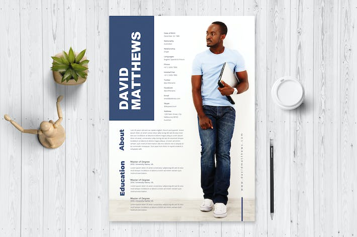 Thumbnail for Simple Resume / CV Template 54