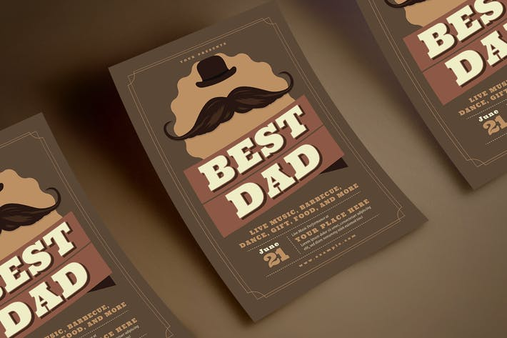 Thumbnail for Retro Father's Day Flyer
