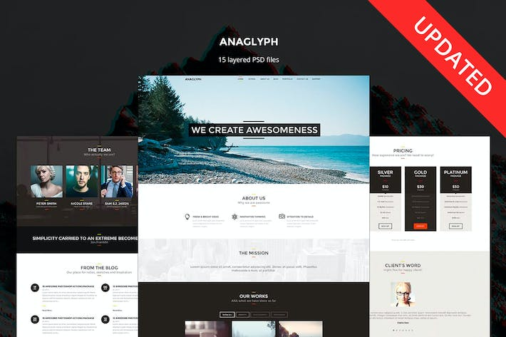 Thumbnail for Anaglyph - PSD Template