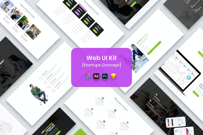 Thumbnail for Web UI Kit Startups