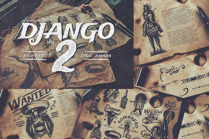 Thumbnail for Django 2 Wild West Badges