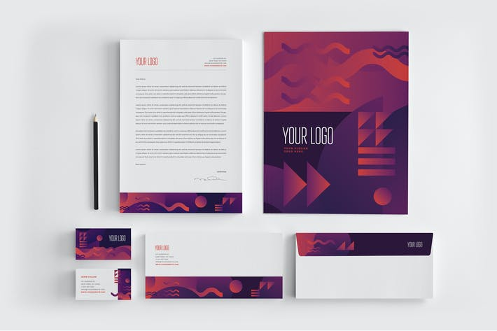 Thumbnail for Modern Cool Stylish Stationery