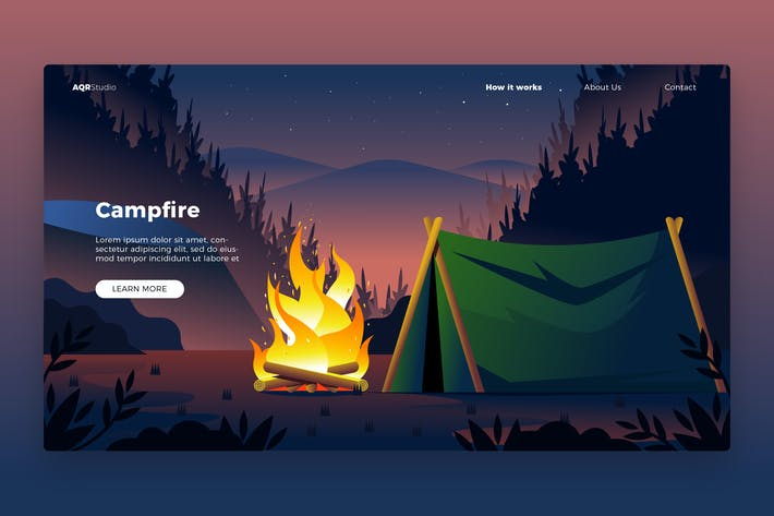 Thumbnail for Campfire - Banner & Landing Page