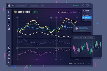 vector Trade dashboard for bitcoin