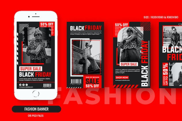 Fashion Black Friday Banner Template