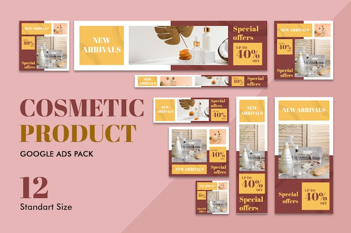 Thumbnail for Google Ads Web Banner Cosmetic Product